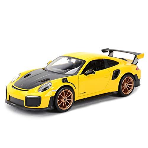 NMBE 1:24 para 2018 Porsche 911 GT2 RS Coche Deportivo Estático Vehículos De Fundición Modelo Coleccionable Juguetes De Coche Modelo De Auto (Color : 2, Size : B)