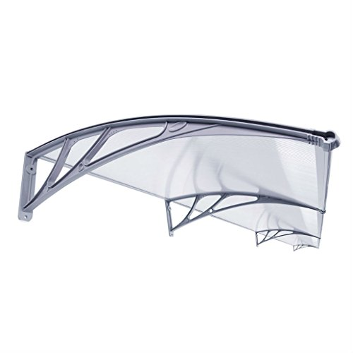 40'x 120' Outdoor Polycarbonate Front Door Window Awning Patio Canopy Gray DIY