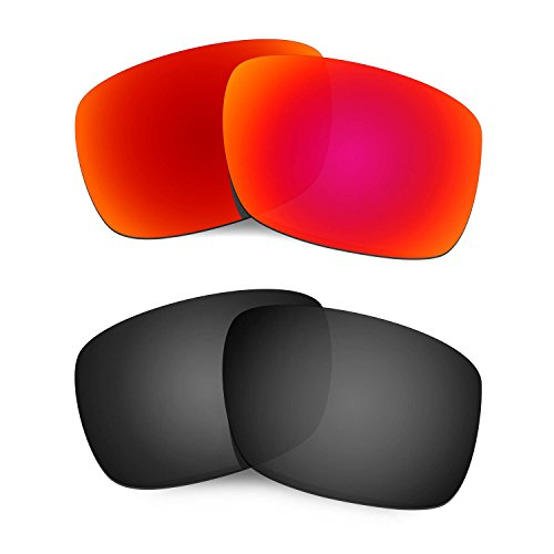 HKUCO Mens Replacement Lenses For Oakley Drop Point Sunglasses Red/Black Polarized