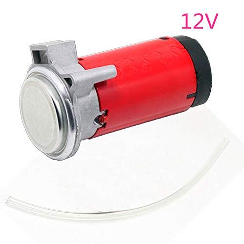 YIYIDA Compresor de aire rojo Kit de bomba de aire de 12V con manguera, motor electromagnético, bocina eléctrica, sonido súper fuerte Reemplace todos los camiones, camiones, trenes, silbato de barco