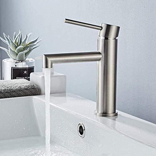 Vanity Waterkraan 304 van geborsteld roestvrij staal voor badkuip, mengkraan voor warm en koud water