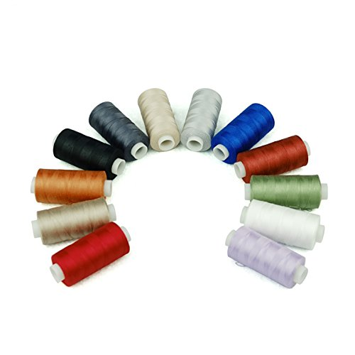 Simthread 20 Colors All Purposes Cotton Quilting Thread 50s/3 Thread for Piecing Sewing etc - 550 Yards Each(20 Colors)