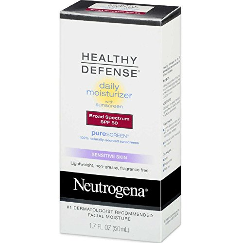 Filtro solar protección SPF 50 Neutrogena Healthy Defense Daily Moisturizer with Purescreem, 1.7 Ounce (Pack of 2) by Neutrogena