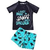 Bañador para Niños Pequeños 2 Piezas Traje de Natación Verano Camiseta de Manga Corta Pantalones...