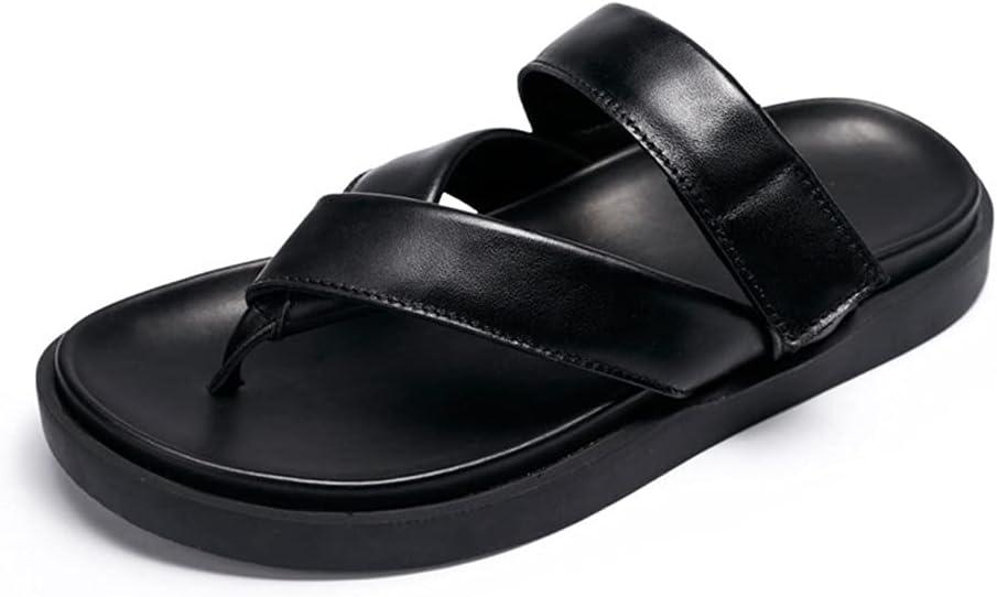 CSTZZ Flat Men's Sandals Men Summer Beach Flip Flops Shoes Sandals Male Slipper Casual Flat Shoes Leisure Style (Color : Black, Size : 43yards)