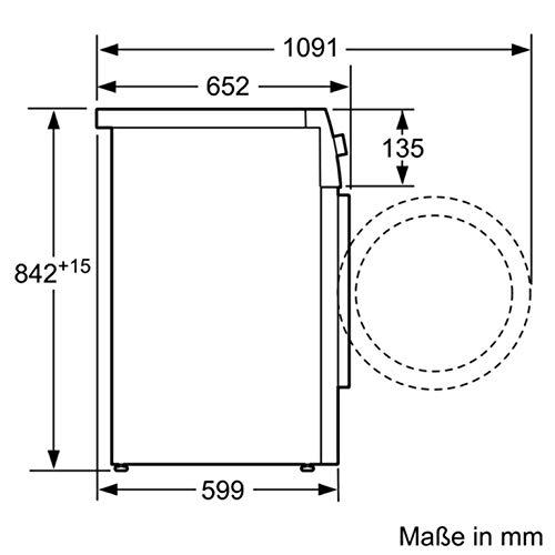 Siemens iQ500 WT46G402 Wärmepumpen-Trockner / 9 kg / B / 616 kWh / AutoDry Funktion - Feuchtegesteuerte Trocknungsprogramme / speedPack für schnelle Trocknungszeiten / Outdoor Programm - 3