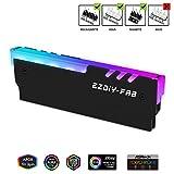 EZDIY-FAB ARGB RAM Kühler RGB DDR Speicher Kühlkörper Kühlweste Fin Strahlung für DIY PC DDR3 DDR4 (kompatibel mit ASUS Aura Sync, GIGABYTE RGB Fusion und MSI Mystic Light Sync) Schwarz-1 Pack