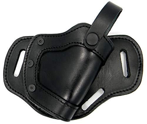 HOLSTERMART USA by CEBECI Premium Black Leather Right Hand Side or Small of Back (SOB) Belt Holster for FMK 9C1 G2, FNS-9C, FN 509, FNX-9, FNX-40, FNP-9, FNP-40