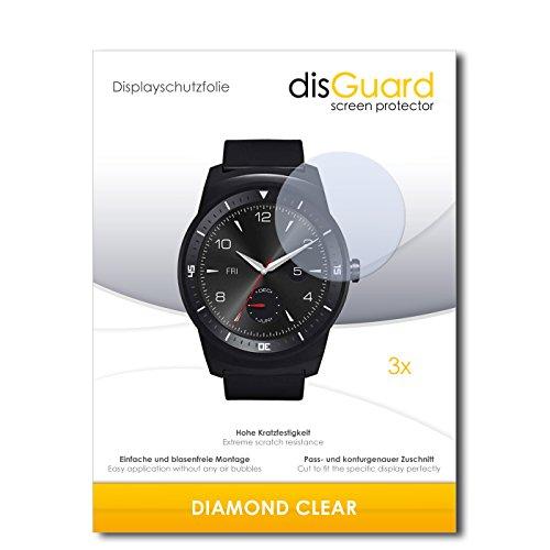 mächtig der welt disGuard 3 x LG G Uhr R Displayschutz DiamondClearInvisible Displayschutzfolie