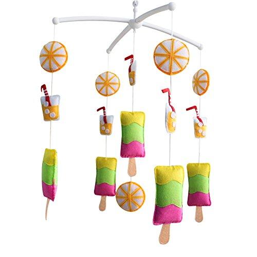 Décoration de pépinière de cadeau de jouet mobile de lit de bébé fait main pour 0-2 ans, MQ49