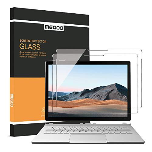 [2 Stücke] MEGOO Surface Book 3 Bildschirmschutzfolie, gehärtetes Glas, einfache Installation, blasenfrei, leichtgängig, kratzfeste Bildschirmschutzfolie - 13,5 Zoll