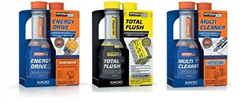 XADO Set 1 limpiador inyectores diésel + 1 aumentador de potencia cetano...