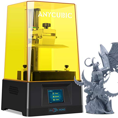 "ANYCUBIC Photon Mono LCD 3D Printer, Fast Printing UV Photocuring Resin 3D Printer with 6.08'' 2K Monochrome LCD, 5.11""(L) x 3.14""(W) x 6.49""(H) Printing Size"
