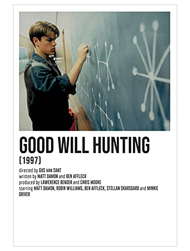 Nirvan Good Will Hunting Will Matt Damon Drama Film Poster 9x11 Inch