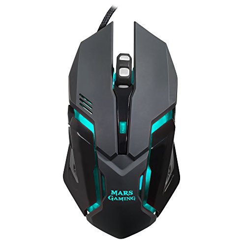 Mars Gaming MRM0, Mouse Ottico Gaming, 4000DPI, RGB Flow, 6 pulsanti, Nero