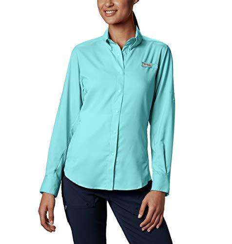 Columbia Women's PFG Tamiami II Long Sleeve Shirt , Clear Blue, 1X