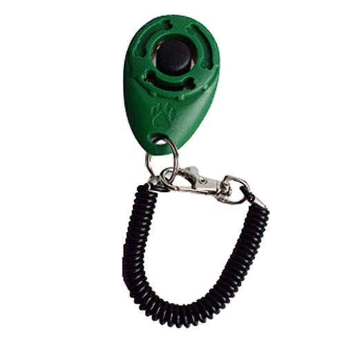 ASDFGT-778 New Dog Pet Clicker Trainingshilfe Handgelenkband Smart Dog Training Accessoire (Color : GN)