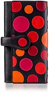 Visconti P2 Neptune Soft Womans' Leather Wallet / Purse with Polka Dots (Very Berry)