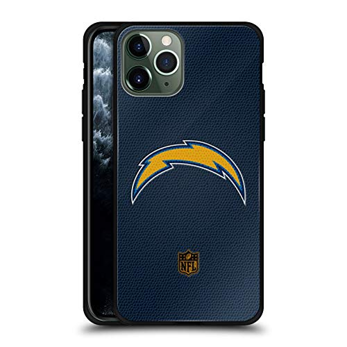 Head Case Designs Officially Licensed NFL Football Los Angeles Chargers Logo Black Hybrid Glass Back Case Compatible with Apple iPhone 11 Pro
