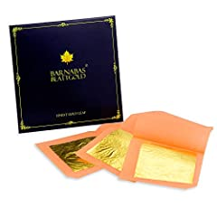 HIGH QUALITY GOLD LEAF: With 30 years of expertise in the creation of edible gold for cakes, at Barnabas Gold we pride ourselves on high quality, purity and consistency. PERFECT CONSISTENCY: Our luxury gold leaf sheets contain 23.75 karat gold which ...