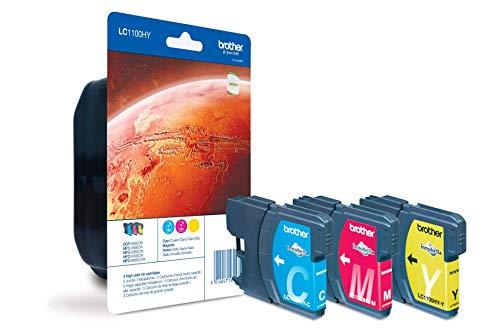 BROTHER LC1100HYRBWBPDR Rainbowpack cyan magenta gelb fuer MFC-5890CN MFC-5895CW MFC-6490CW MFC-6890CDW DCP-6690CW