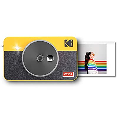 Kodak Mini Shot 2 Retro Portable Wireless Instant Camera & Photo Printer, Compatible with iOS & Android and Bluetooth Devices, Real Photo (2.1x3.4) 4Pass Technology - Yellow