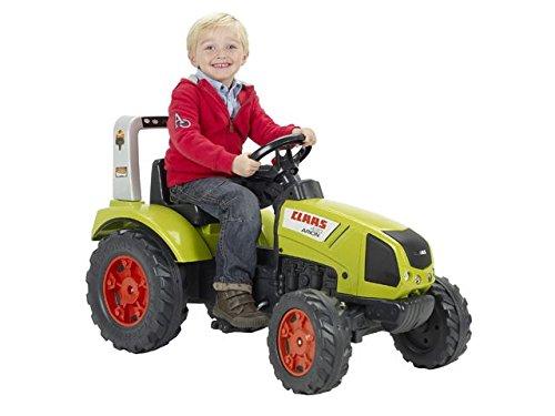 FALK - Tracteur à pédales Claas - Dès 3 ans - Fabriqué en France - volant directionnel avec klaxon - Siège ajustable - 1040