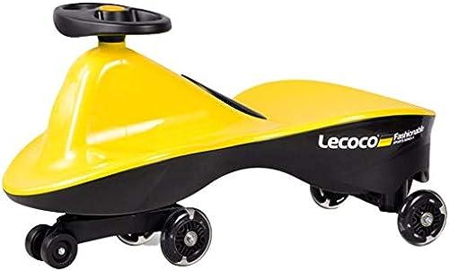 Das mädchen des Kinderschwanzauto-Jungenspielzeugautokinderkinders drehendes blinkendes stummes Radgewicht 88kg, das doppeltes sitzendes 1-6 Jahre altes Geschenk sitzt