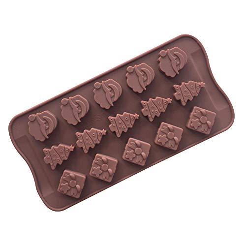 Yiwa 15 Series Siliconen vorm chocolade Cake Mold Christmas Tree Kerstman Hand zeep