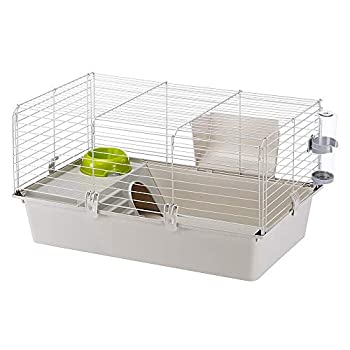 Ferplast Cavie Guinea Pig Cage & Rabbit Cage | Pet Cage Includes All Accessories to Get You Started & a 1-Year Warranty