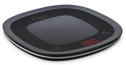 Ozeri Touch Waterproof Digital Kitchen Scale Washable and Submersible, Small, Black