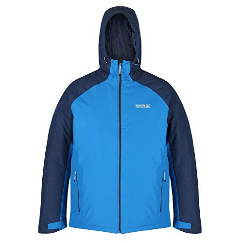 Regatta Volter Protect Chaqueta calefactable, impermeable, con capucha y costuras selladas Jackets Waterproof Insulated, Hombre, Imperial Blue/Nightfall Navy, XXL