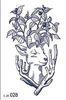 【即日発送します!】特大幅広ジャグアシートセット!2週間で消える オーガニックタトゥー/最高級品質ジャグア (deer〜自然・共生〜)