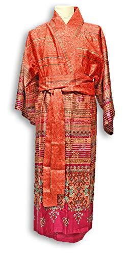 Bassetti MAIORI Kimono, katoen, rood, L-XL