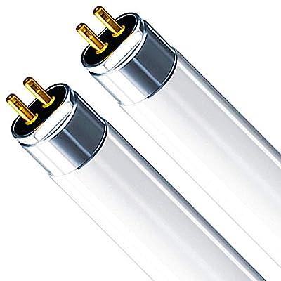 Luxrite LR20841 T5 21-Watt 3 ft Fluorescent Tube Light Bulb, Soft White 3000K, 1850 Lumens, G5 mini bi-pin base