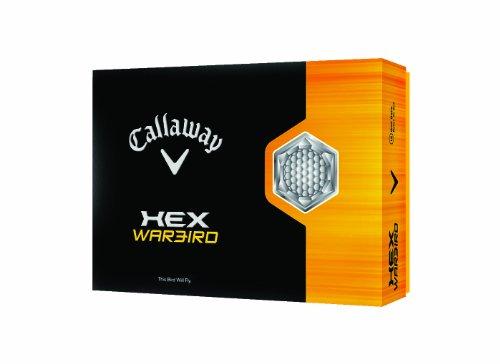 Callaway HEX Warbird Golf Balls, White, Pack of 12