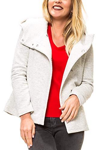 ONLY Damen Kurzmantel mit Kapuze Übergangsjacke (M, Colour 4)