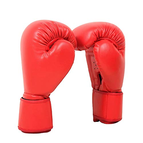 Boxhandschuhe, Gel-Boxhandschuhe, Sparring, Trainingshandschuhe, Muay Thai, Boxsack, Handschuhe für Herren und Damen (340 g, rot)