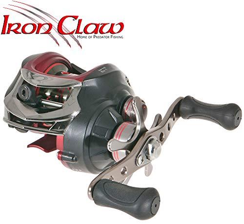 Iron Claw X-Act 3.0 - Baitcaster Rolle zum Spinnfischen auf Zander & Barsche, Spinnrolle zum Spinnangeln, Zanderrolle, Barschrolle
