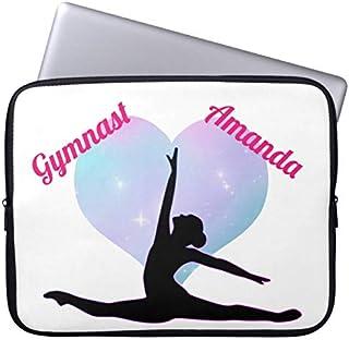 Recaso(レカソ)女 子 体操 カスタム ショッキングピンク/白 ラップトップスリーブ 13.3インチ PCインナーバッグ 防水 マックブックケース ラップトップ ノートパソコン
