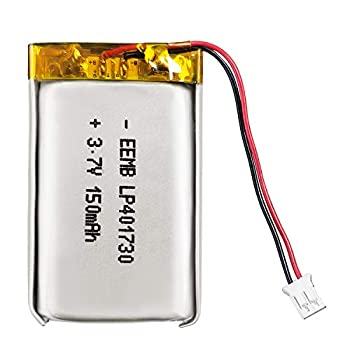 EEMB 3.7V Lipo Battery 150mAh 401730 Lithium Polymer ion Battery Rechargeable Lithium ion Polymer Battery PCS with Molex Connector UN38.3