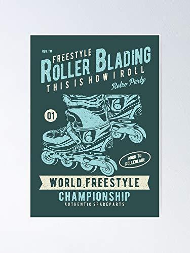 AZSTEEL Póster del campeonato de estilo libre de rodillo de hoja 11.7 x 16.5