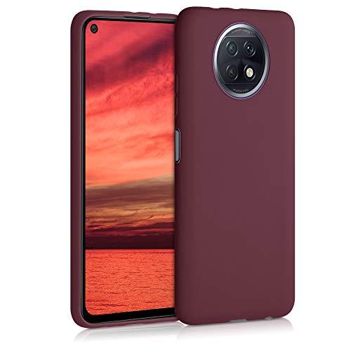 kwmobile Funda Compatible con Xiaomi Redmi Note 9T - Carcasa de TPU Silicona - Protector Trasero en Rojo Vino