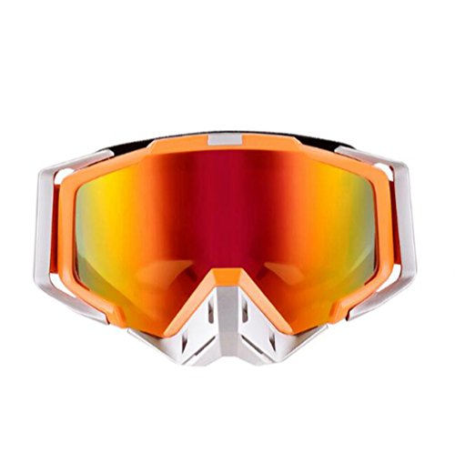 Tmei Professinelle Sportbrille, UV 400 Schutz, flexibler Kunststoffrahmen, Windschutz, Antibeschlagsbeschichtet für Outdoor, Sport, Motocross, Motorrad, Fahrrad, Ski, Snowboard, Buggy, Scooter etc