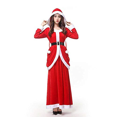 Ms Claus Costume Christmas Miss Santa Womens Ladies Adult Fancy Dress Outfit UK