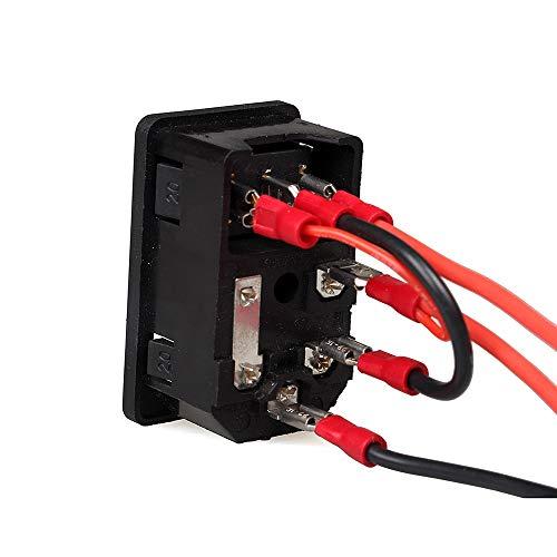 HUANRUOBAIHUO 3D-printer Part De schakelaar 220V / 110V 10A Kortsluiting bescherming van de veiligheid switch stopcontact 3D Printer Parts