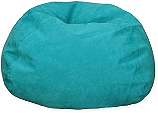 Large Microsuede Bean Bag Chair in Turquoise (turquoise)