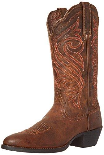 Ariat Women's Round Up R Toe Western Cowboy Boot, Dark Toffee, 7 B US