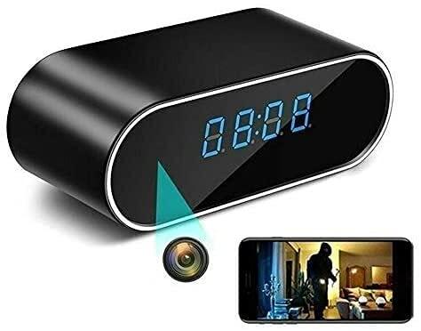 Reloj de cámara espía oculta actualizado, cámara oculta inalámbrica WiFi, cámara de niñera HD 1080P para monitor de seguridad en el hogar, grabadora de vídeo, visión nocturna, detección de movimiento