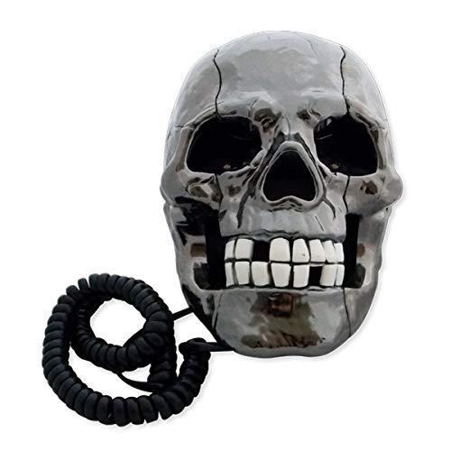 teléfono con cable fijo cráneo luminosa